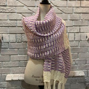 💖Hand Knitted Scarf Wrap Vintage